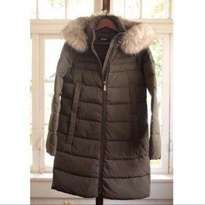 DKNY Faux Fur Hooded Down Winter Jacket!